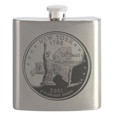 coin-quarter-new-york Flask