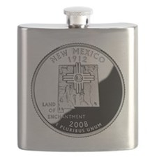 coin-quarter-new-mexico Flask