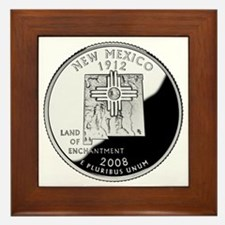 coin-quarter-new-mexico Framed Tile