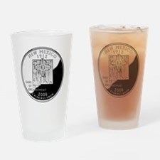coin-quarter-new-mexico Drinking Glass