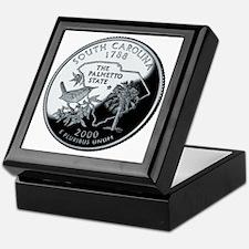 coin-quarter-south-carolina Keepsake Box