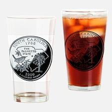 coin-quarter-south-carolina Drinking Glass