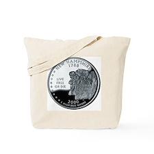 coin-quarter-new-hampshire Tote Bag