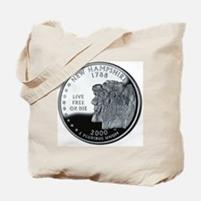 coin-quarter-new-hampshire Tote Bag