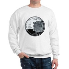 coin-quarter-new-hampshire Sweatshirt