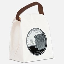 coin-quarter-new-hampshire Canvas Lunch Bag