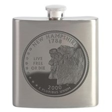 coin-quarter-new-hampshire Flask
