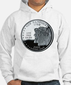 coin-quarter-new-hampshire Hoodie