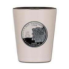 coin-quarter-new-hampshire Shot Glass