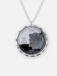 coin-quarter-new-hampshire Necklace