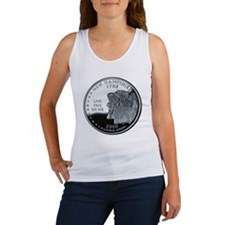 coin-quarter-new-hampshire Women's Tank Top