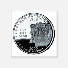 """coin-quarter-new-hampshire Square Sticker 3"""" x 3"""""""