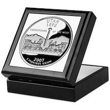 coin-quarter-utah Keepsake Box