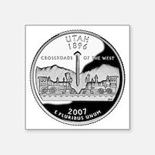 "coin-quarter-utah Square Sticker 3"" x 3"""