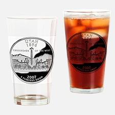 coin-quarter-utah Drinking Glass
