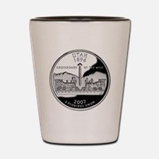 coin-quarter-utah Shot Glass