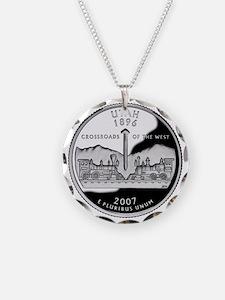 coin-quarter-utah Necklace