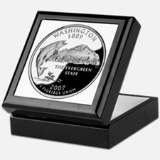coin-quarter-washington Keepsake Box