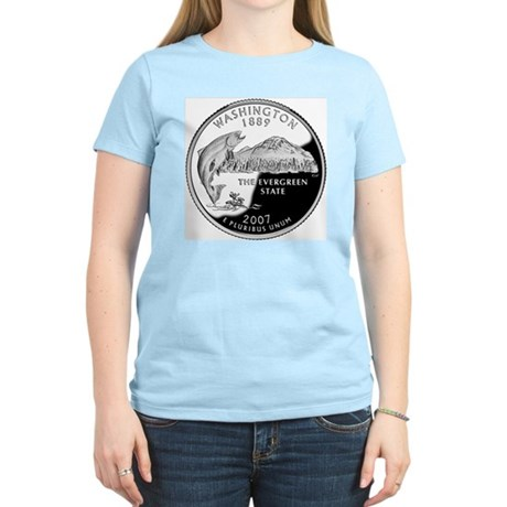 coin-quarter-washington Women's Light T-Shirt