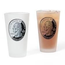 quarter-heads-george-02 Drinking Glass