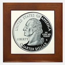quarter-heads-george-02 Framed Tile