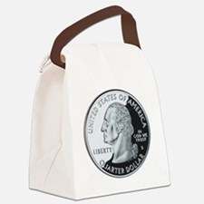 quarter-heads-george-02 Canvas Lunch Bag