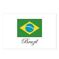 Brazil - Flag Postcards (Package of 8)