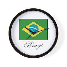 Brazil - Flag Wall Clock