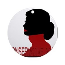 Conservative Woman 2 trsbkg Round Ornament