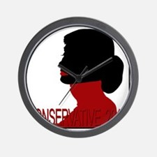 Conservative Woman 2 trsbkg Wall Clock