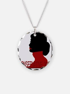 Conservative Woman 2 trsbkg Necklace