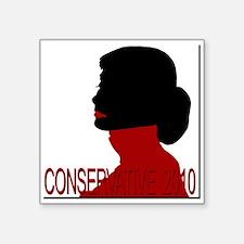"Conservative Woman 2 trsbkg Square Sticker 3"" x 3"""