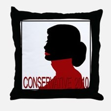 Conservative Woman 2 opqbkg Throw Pillow
