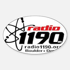 Radio 1190 black logo Sticker (Oval)