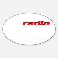 Radio 1190 white logo Sticker (Oval)
