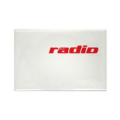 Radio 1190 white logo Rectangle Magnet