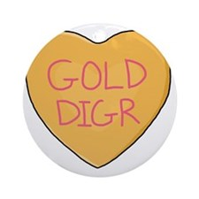 GOLD DIGR Round Ornament