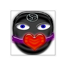 """gimp heart gag Square Sticker 3"""" x 3"""""""