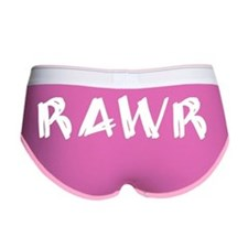 Rawr (White) Women's Boy Brief
