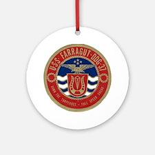 farragut ddg patch transparent Round Ornament