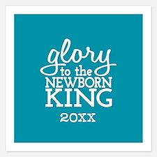 Newborn King Custom Year Invitations