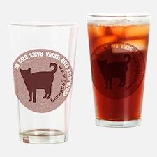 3-pgato redondo Drinking Glass