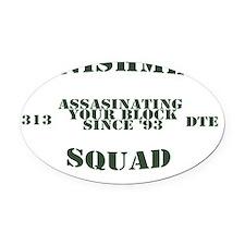 punishment squad Oval Car Magnet