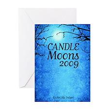 CandleMoons09_cvr Greeting Card