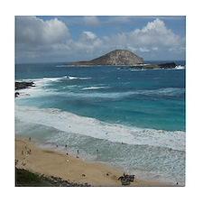 Oahu Coastline Tile Coaster