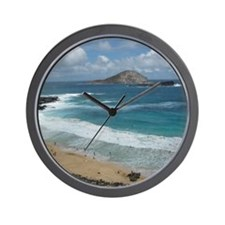 Oahu Coastline Wall Clock