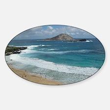 Oahu Coastline Decal