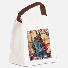a pirate button Canvas Lunch Bag