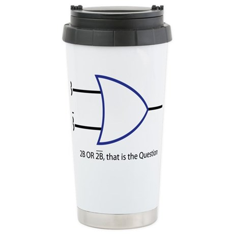 2BORNOT2B Stainless Steel Travel Mug
