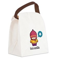 Love Muffin PNK-PUR Canvas Lunch Bag